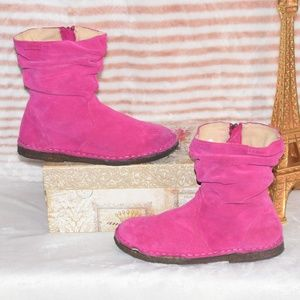 LL Bean Hot Pink Slouch Calf Zippered Booties Sz 4